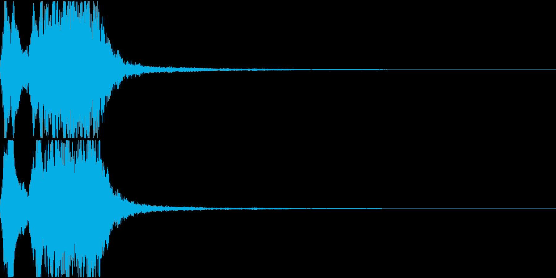 ラッパ ファンファーレ 定番 4の再生済みの波形