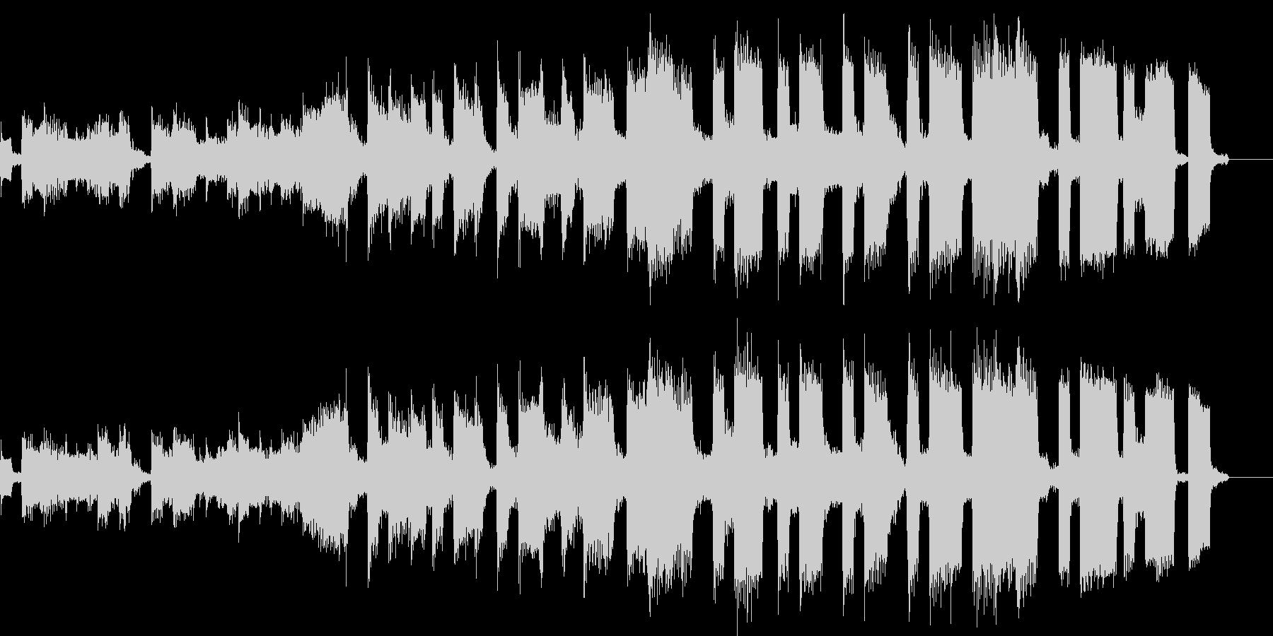 テクノとハウスのBGMの未再生の波形