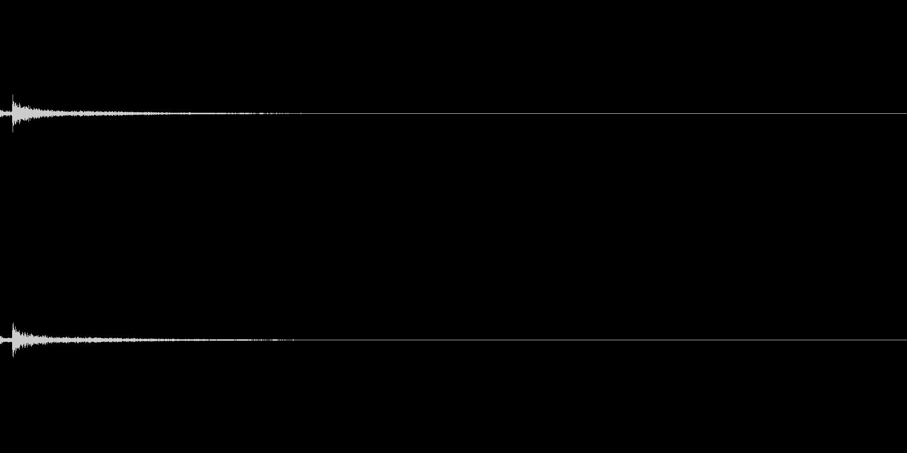 リバーブの効いた開錠音の未再生の波形