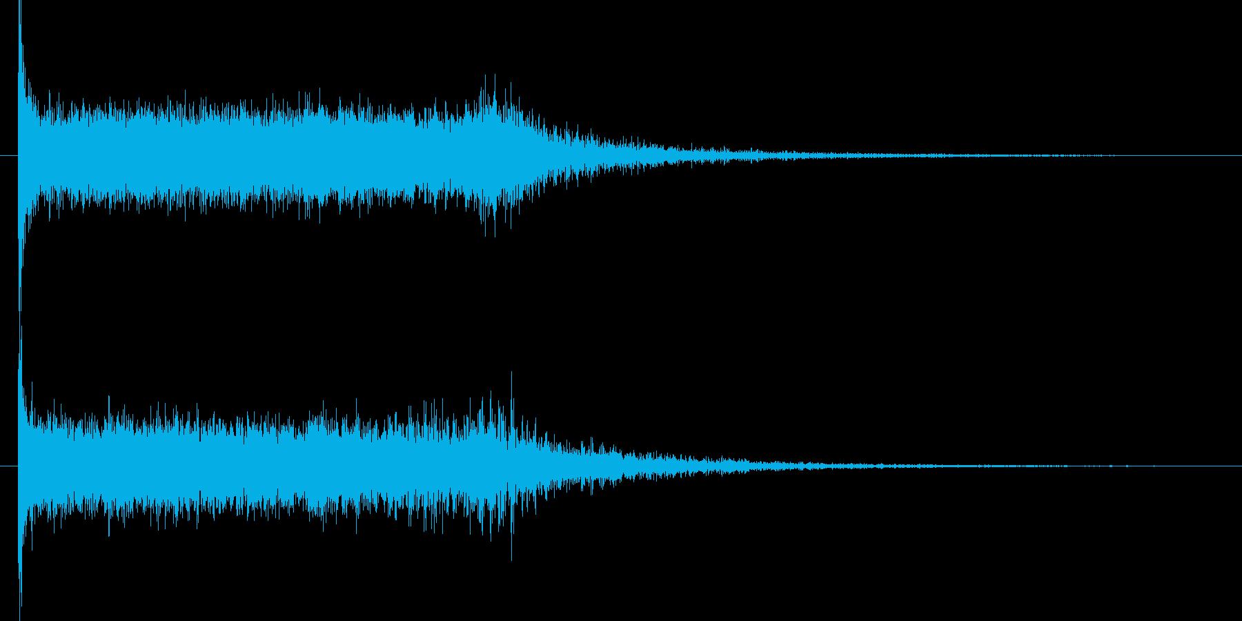「ガーン シュワーン(打撃音)」の再生済みの波形