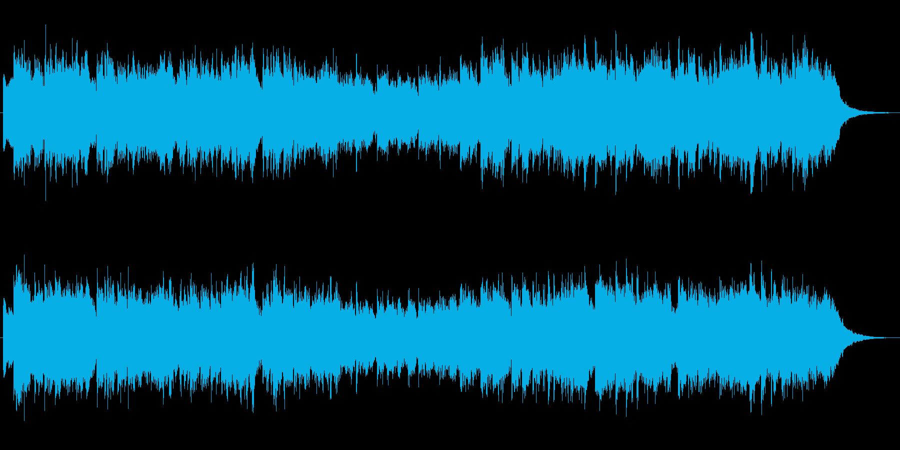 シンセブラスの印象的なジングル2の再生済みの波形