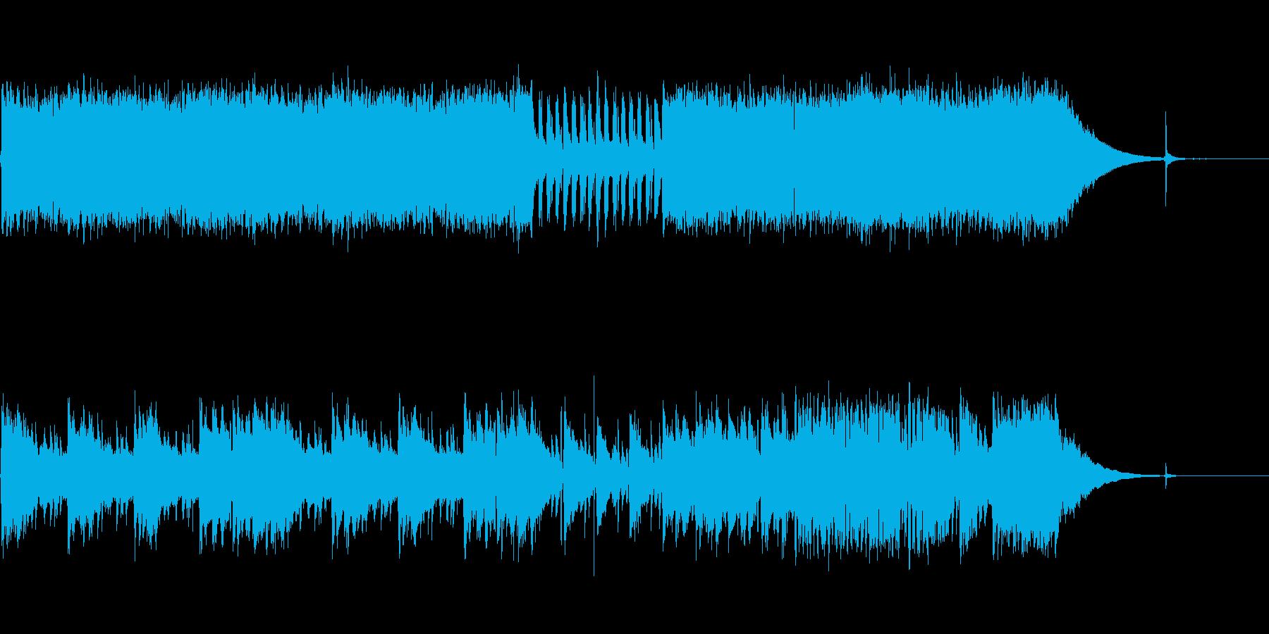 哀愁のあるエレキギターのブルースの再生済みの波形
