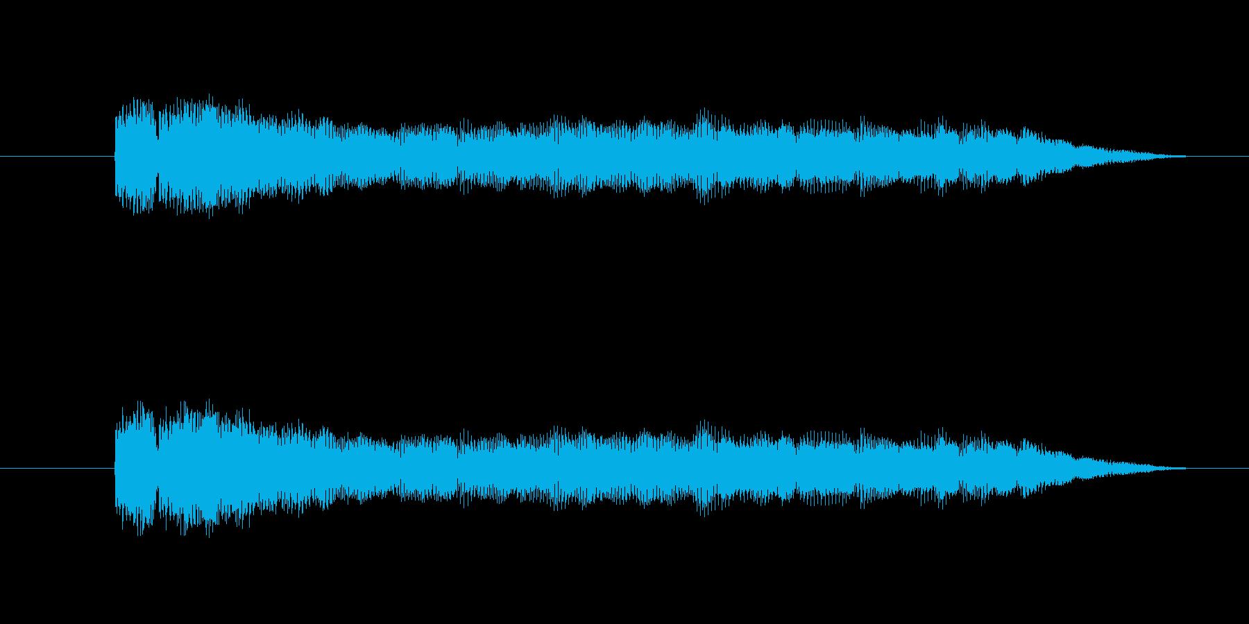 ジャジャーンという効果音の再生済みの波形