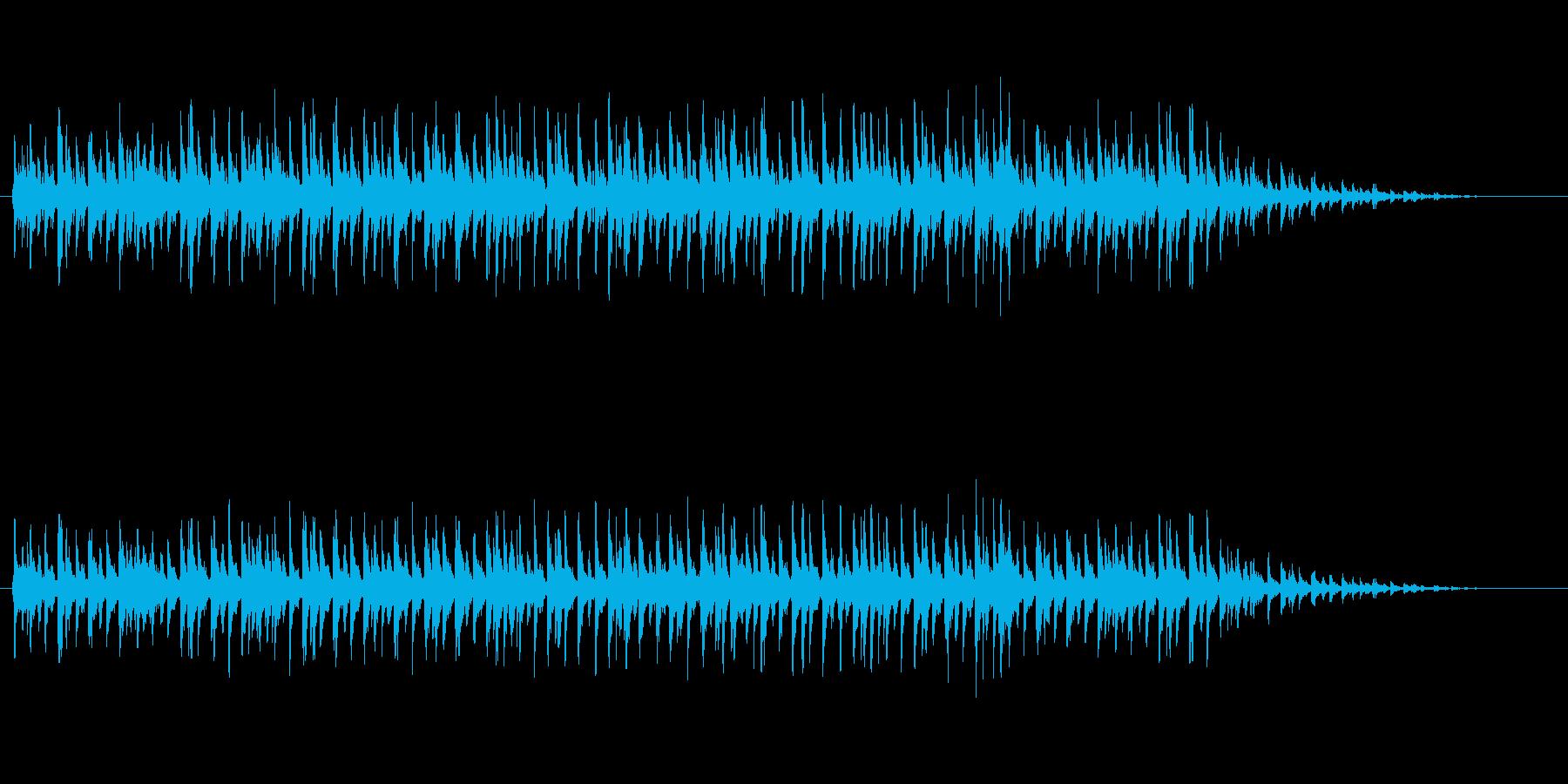 エレクトロニカ・ダンスミュージックの再生済みの波形