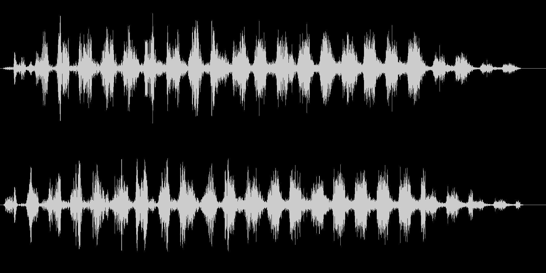 シャララ系アップ(上がって行く)の未再生の波形
