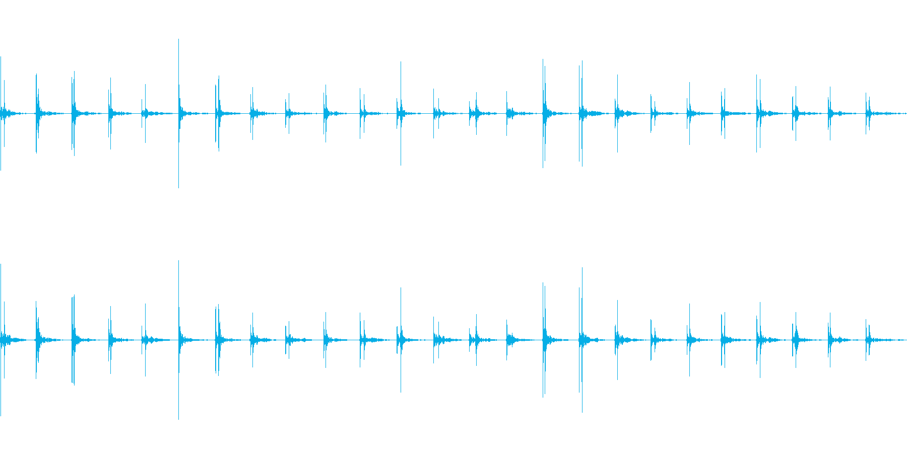 アスファルトの上を歩く(速足)の再生済みの波形