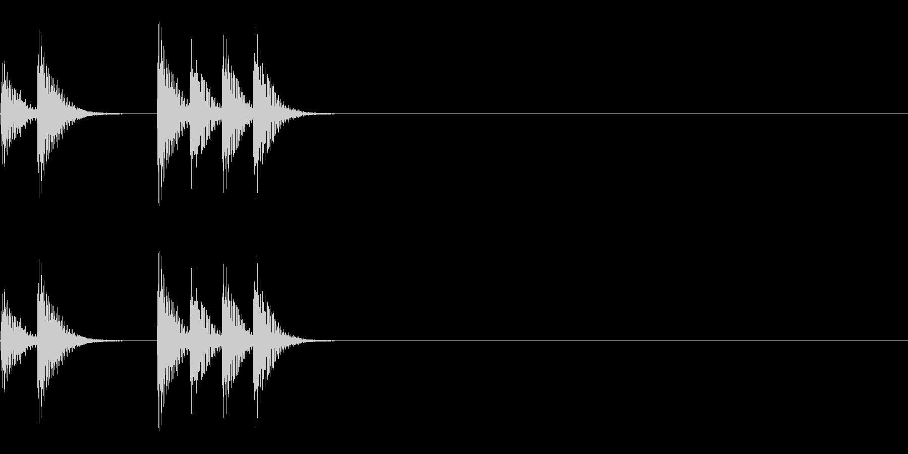 アニメ用~少し急かしているノック音~の未再生の波形