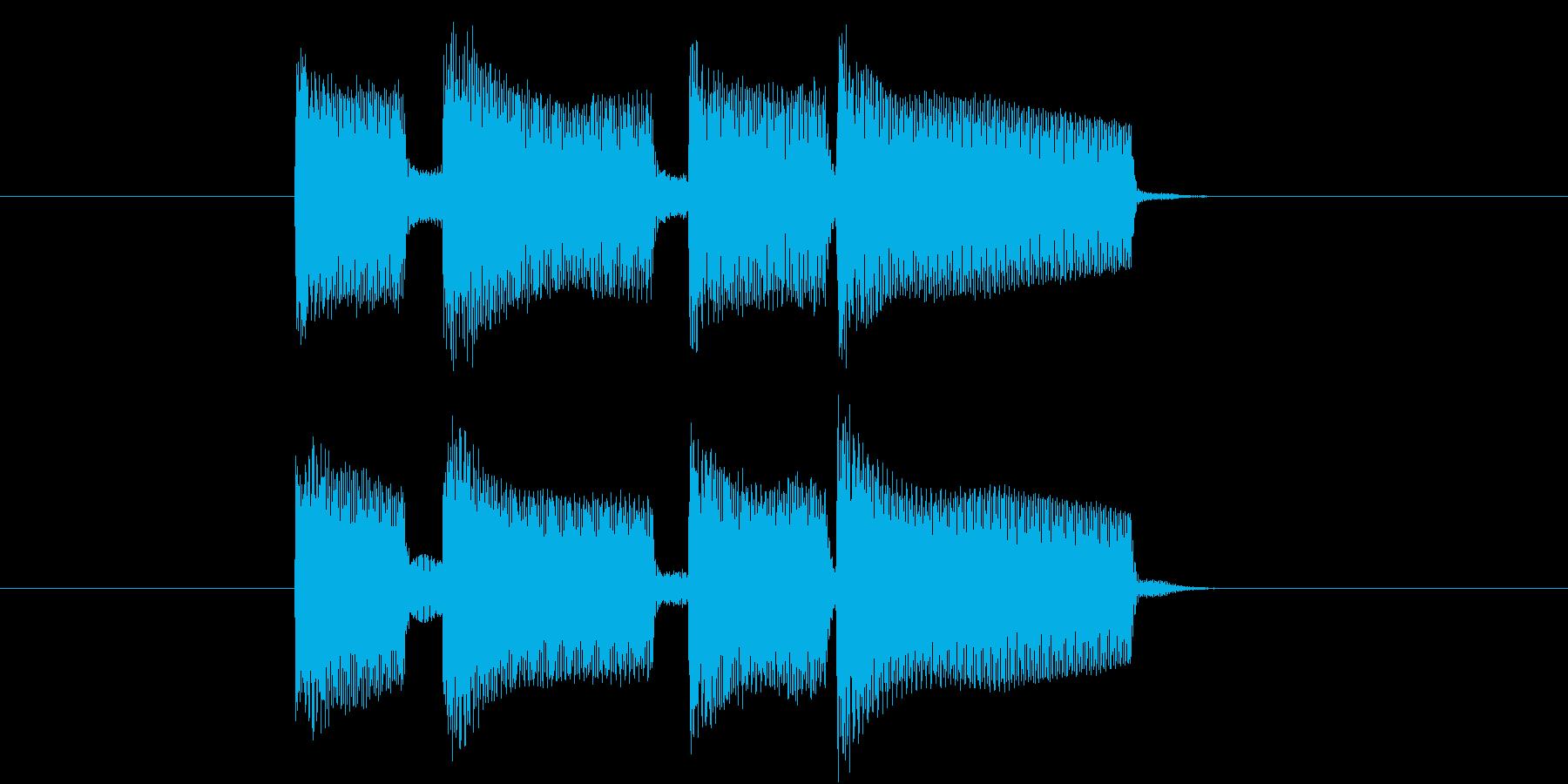 穏やかに終わるようなジングルの再生済みの波形