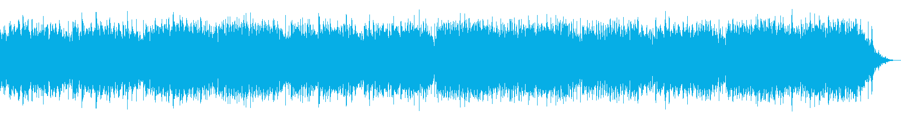 メルヘン的な淡いシンセサイザーBGMの再生済みの波形