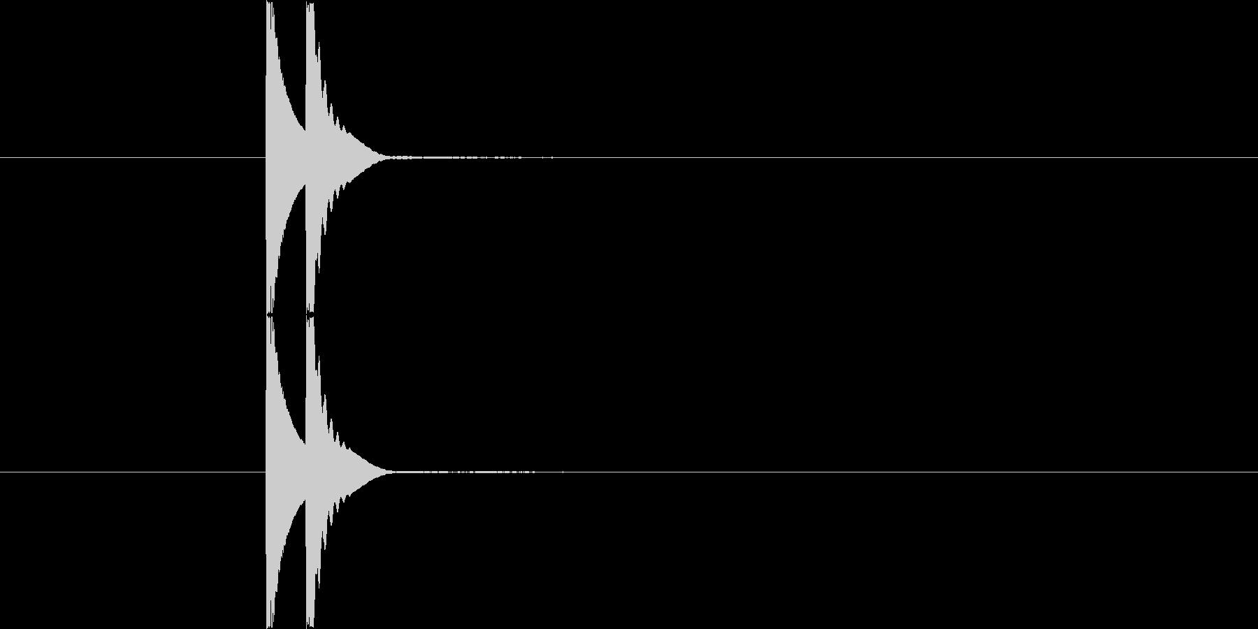 カワイイ系クリック Bの未再生の波形
