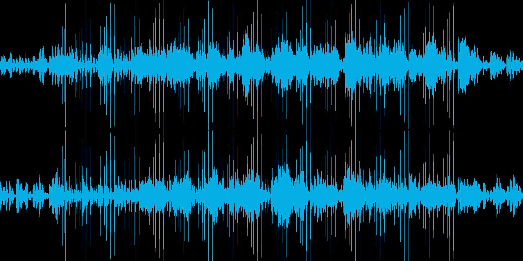 爽やかな朝の目覚まし代わりのBGM60秒の再生済みの波形
