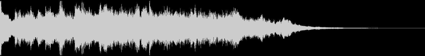 サウンドロゴ、5秒CM、場面転換verCの未再生の波形