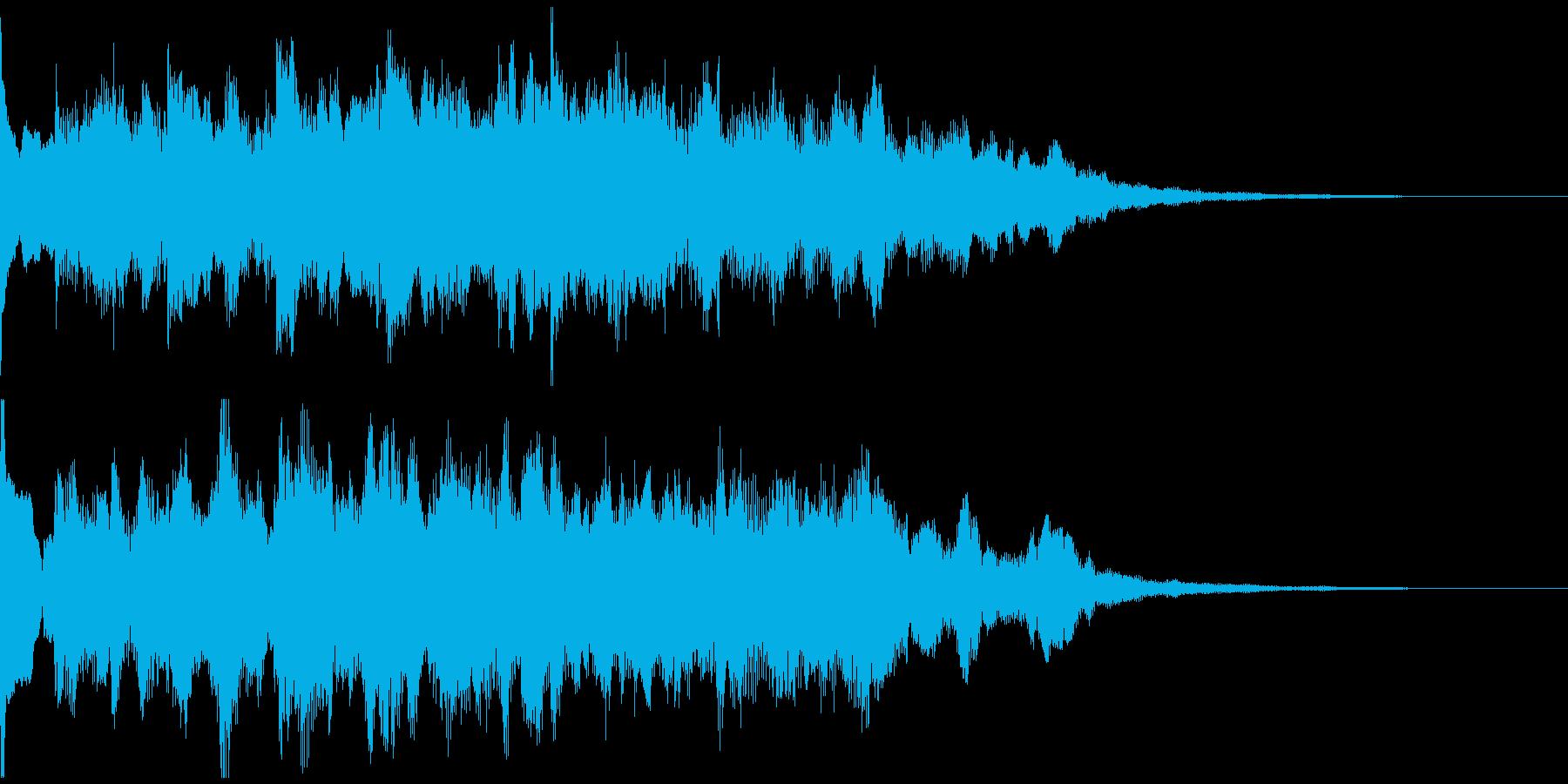 サウンドロゴ、5秒CM、場面転換verCの再生済みの波形