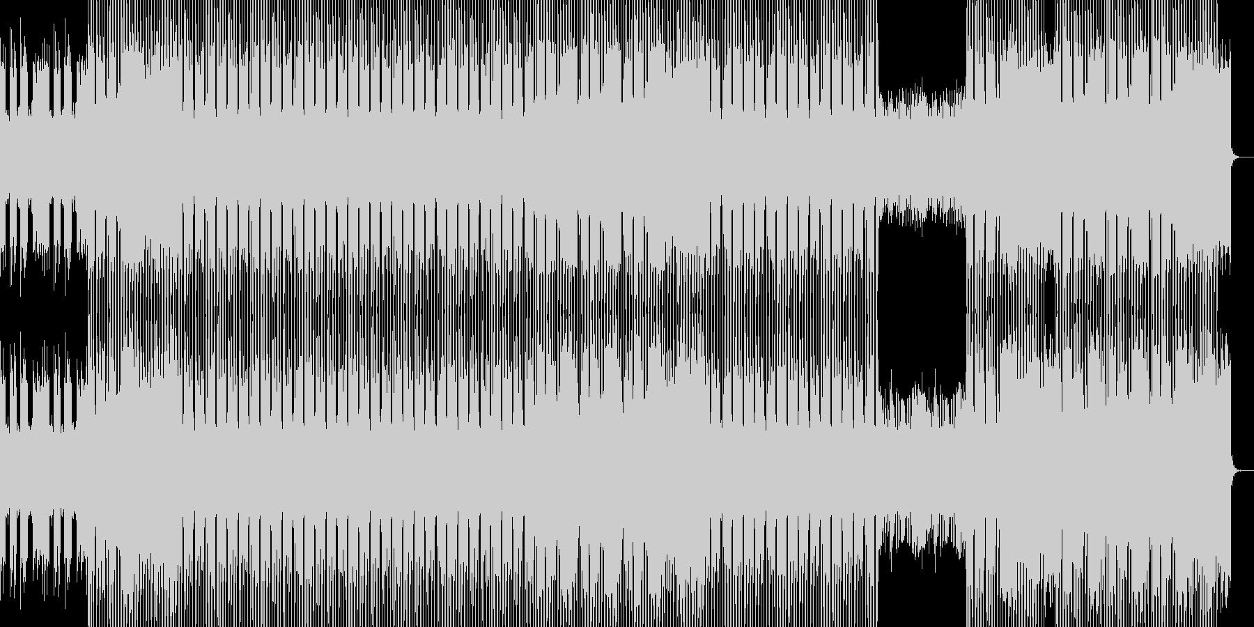 ギターフレーズが特徴的なダンスナンバーの未再生の波形