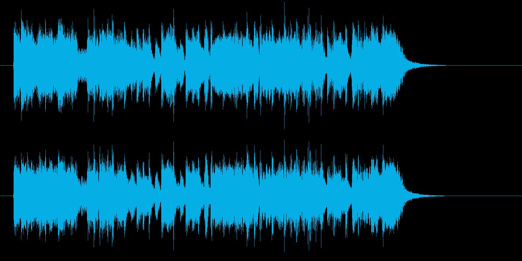 軽快でアップテンポなロックの再生済みの波形