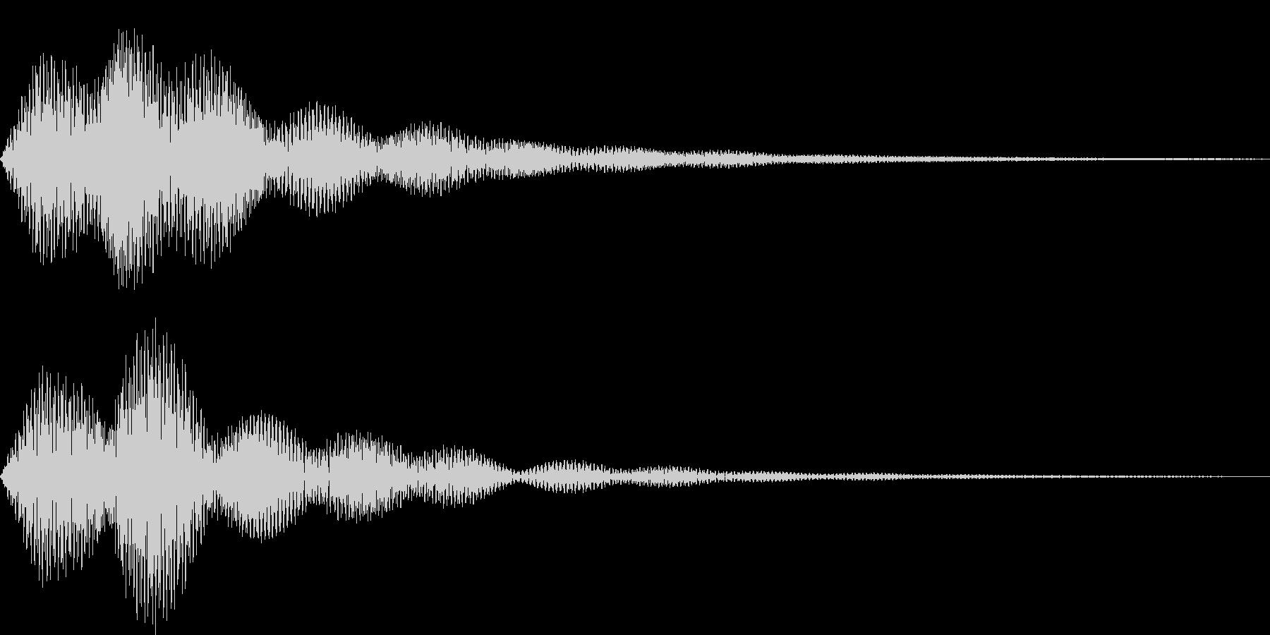 ボタン・操作音8の未再生の波形