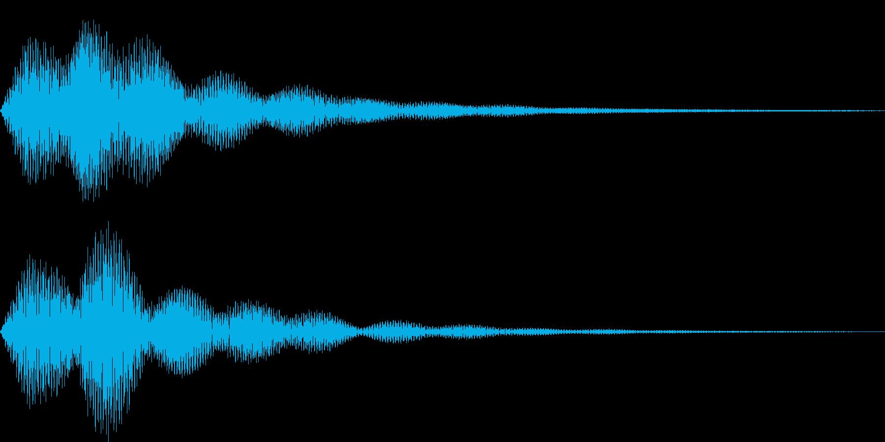 ボタン・操作音8の再生済みの波形