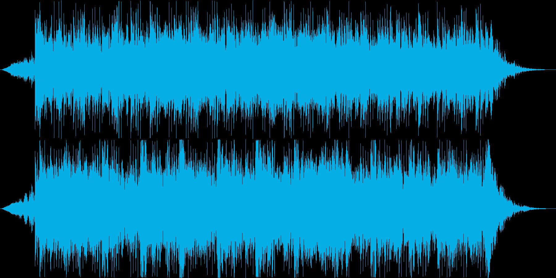 ダークで緊張感のある曲の再生済みの波形