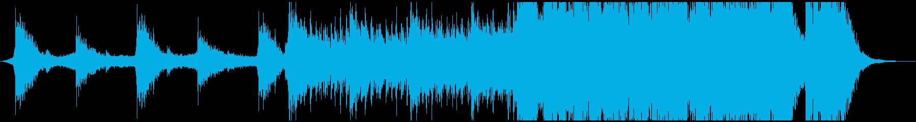 ハリウッド映画予告編風のパワフルな曲の再生済みの波形