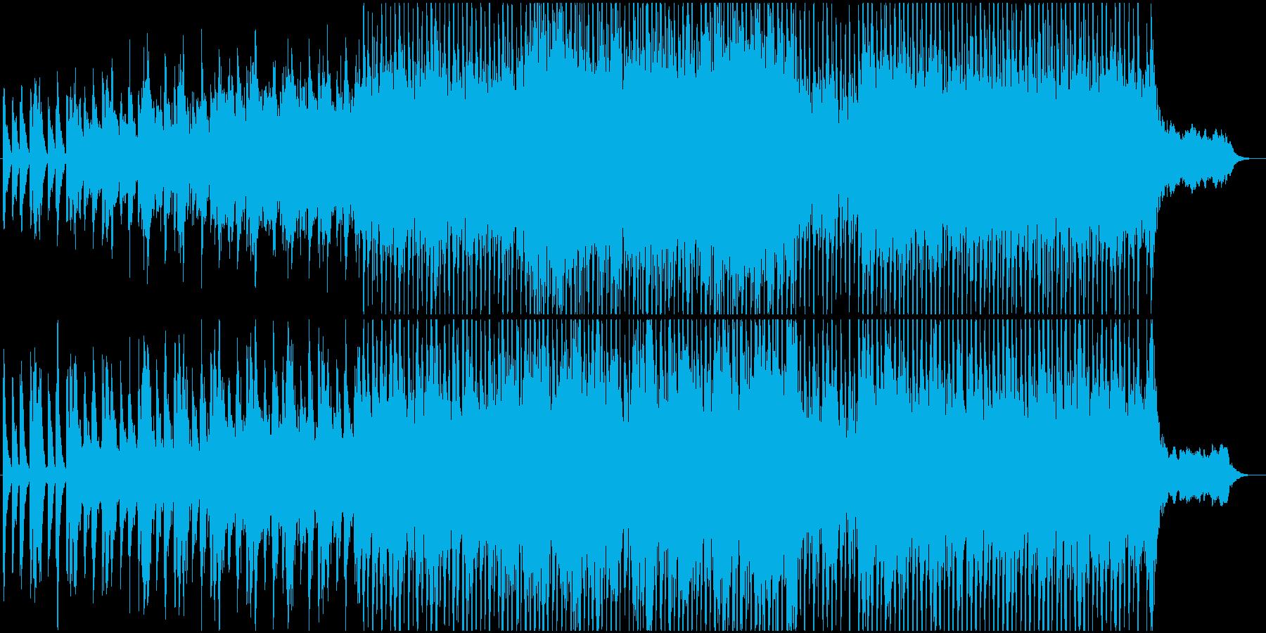 企業VPに最適なシンセBGMの再生済みの波形