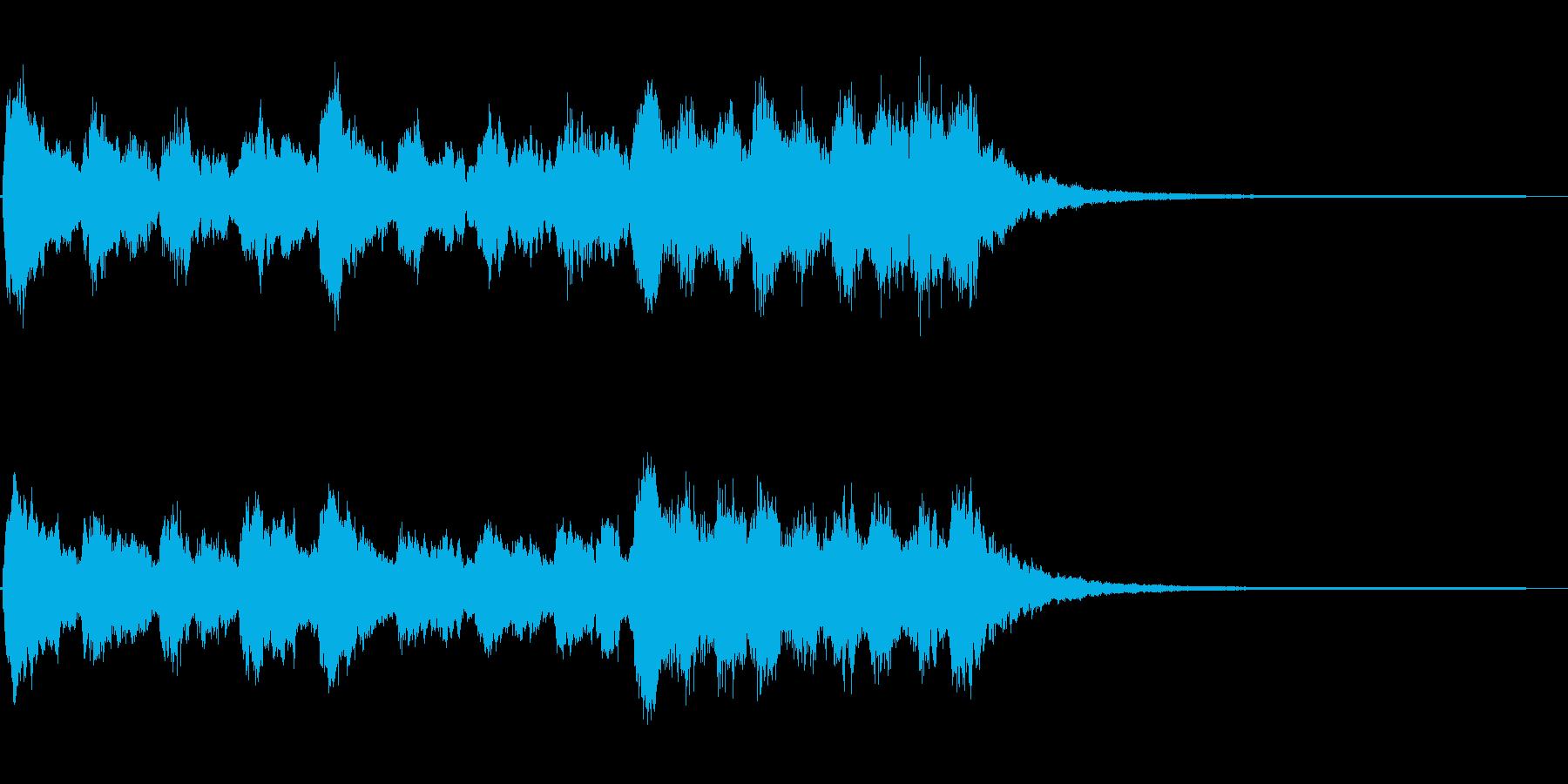 キラキラシンセ ジングルの再生済みの波形