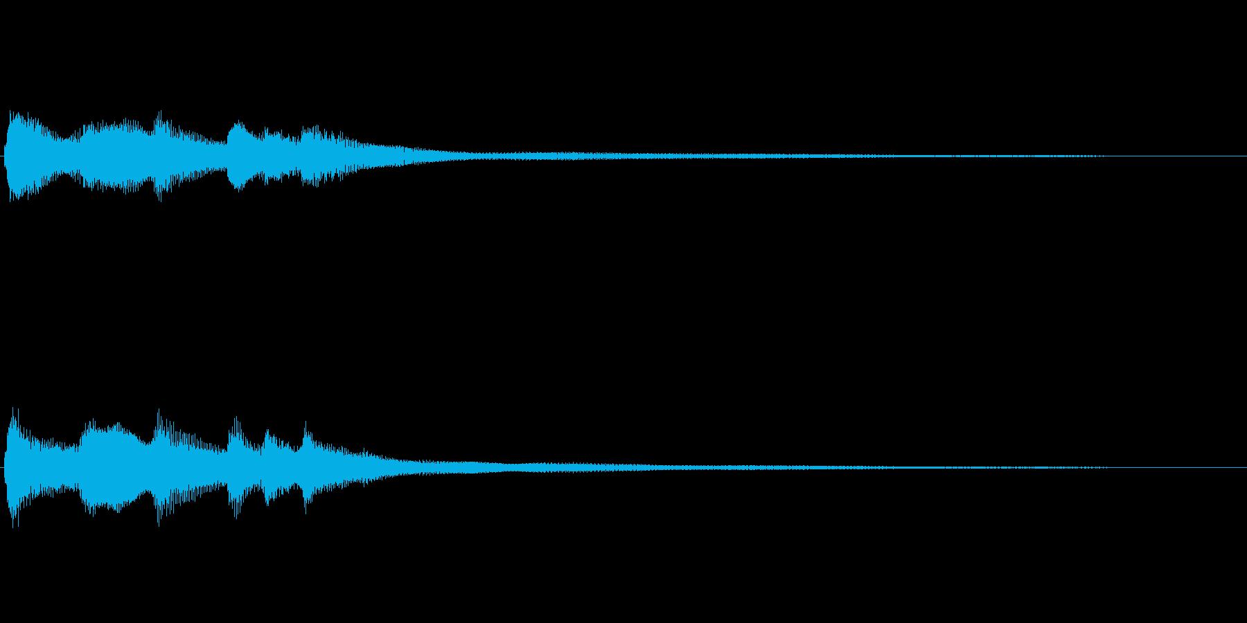 転換の時に使う短いBGM ファンタジー系の再生済みの波形