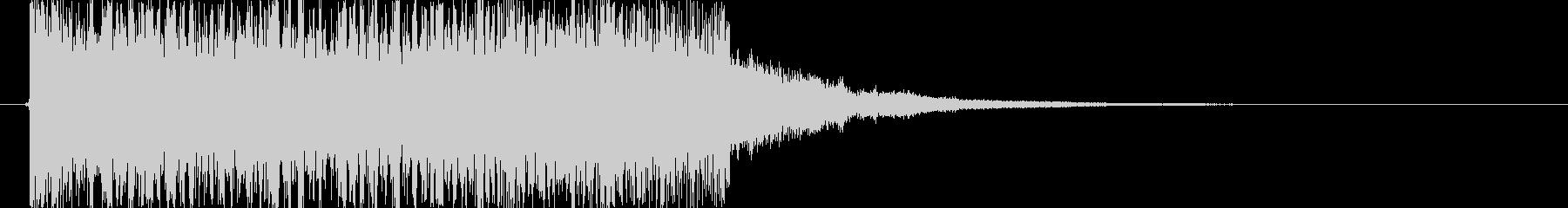 レベルアップ音の未再生の波形