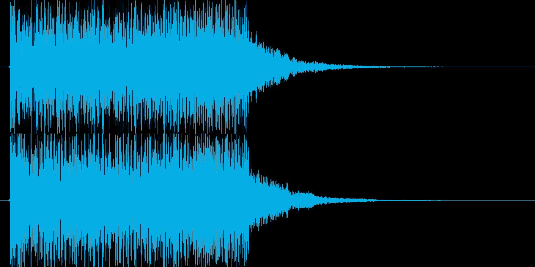 レベルアップ音の再生済みの波形