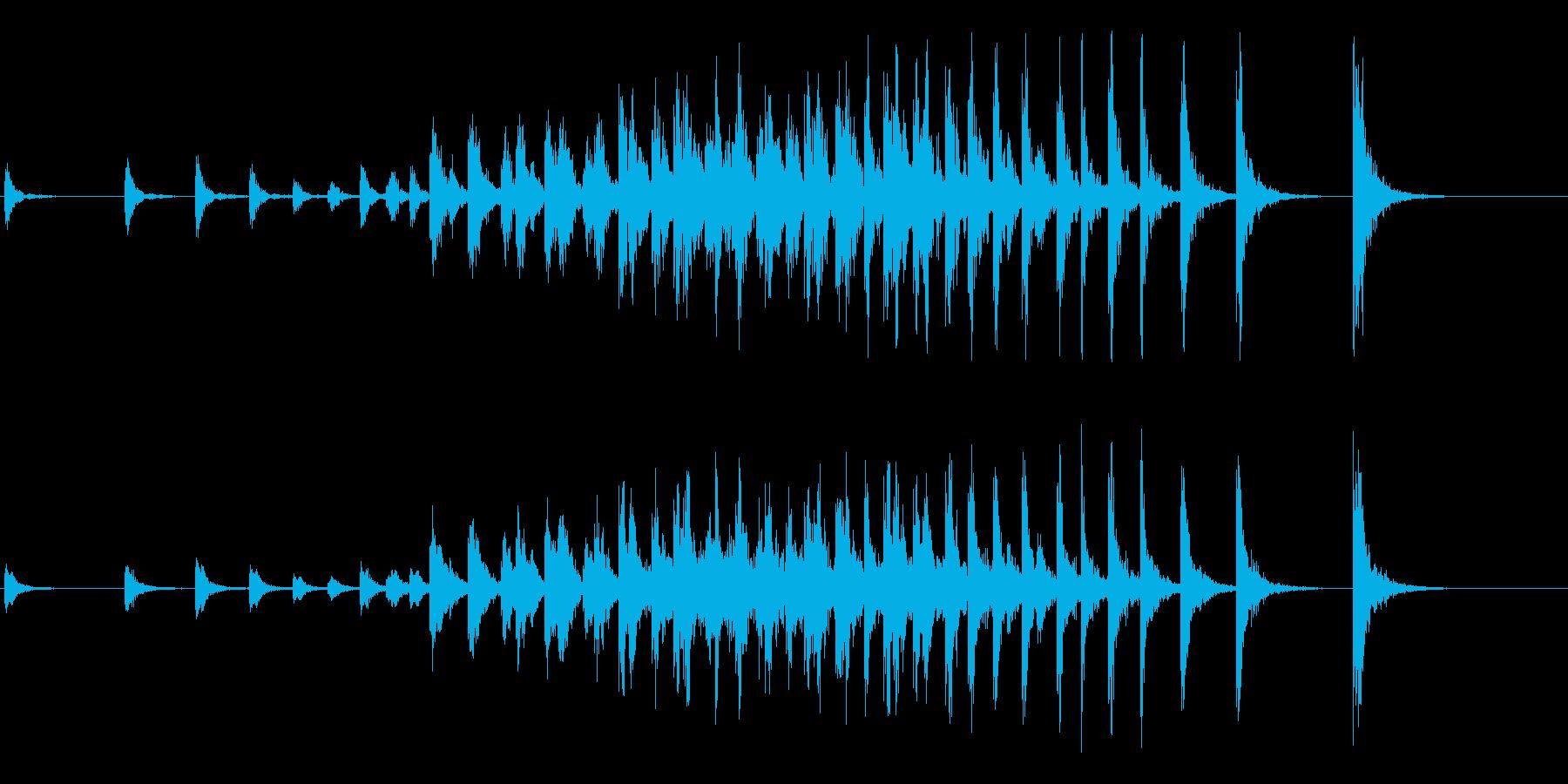 和太鼓のオープニングに最適な連打音+FXの再生済みの波形