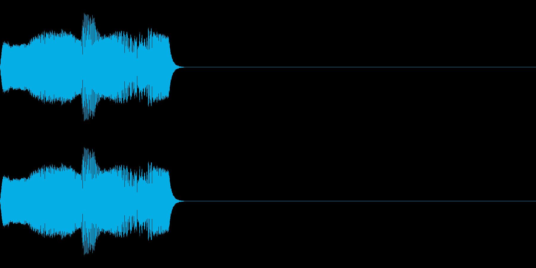 コミカルな足音、ボタン音などのイメージの再生済みの波形