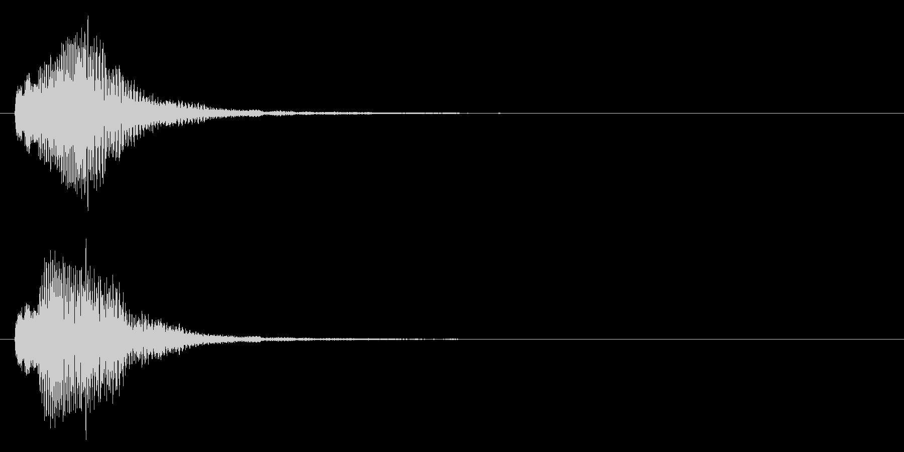 決定音/上昇系/柔らかいの未再生の波形
