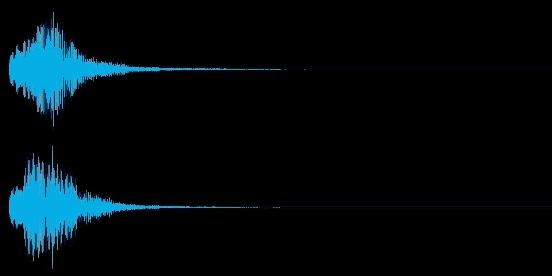 決定音/上昇系/柔らかいの再生済みの波形