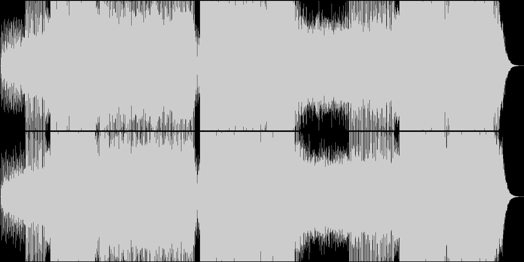 EDM映像用トランス系静かで爽やかな楽曲の未再生の波形
