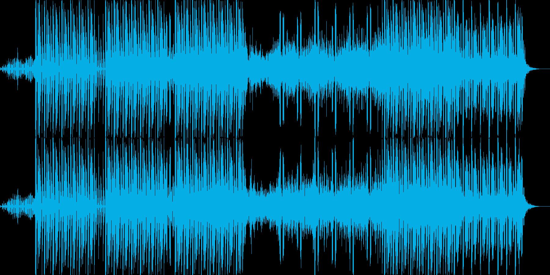 幻想的な雰囲気のテクノの再生済みの波形