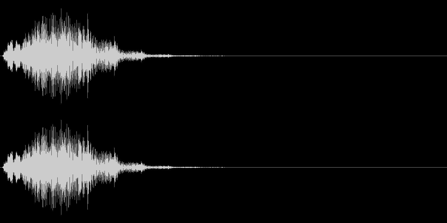 ゲームに使う事を想定したシステム効果音…の未再生の波形