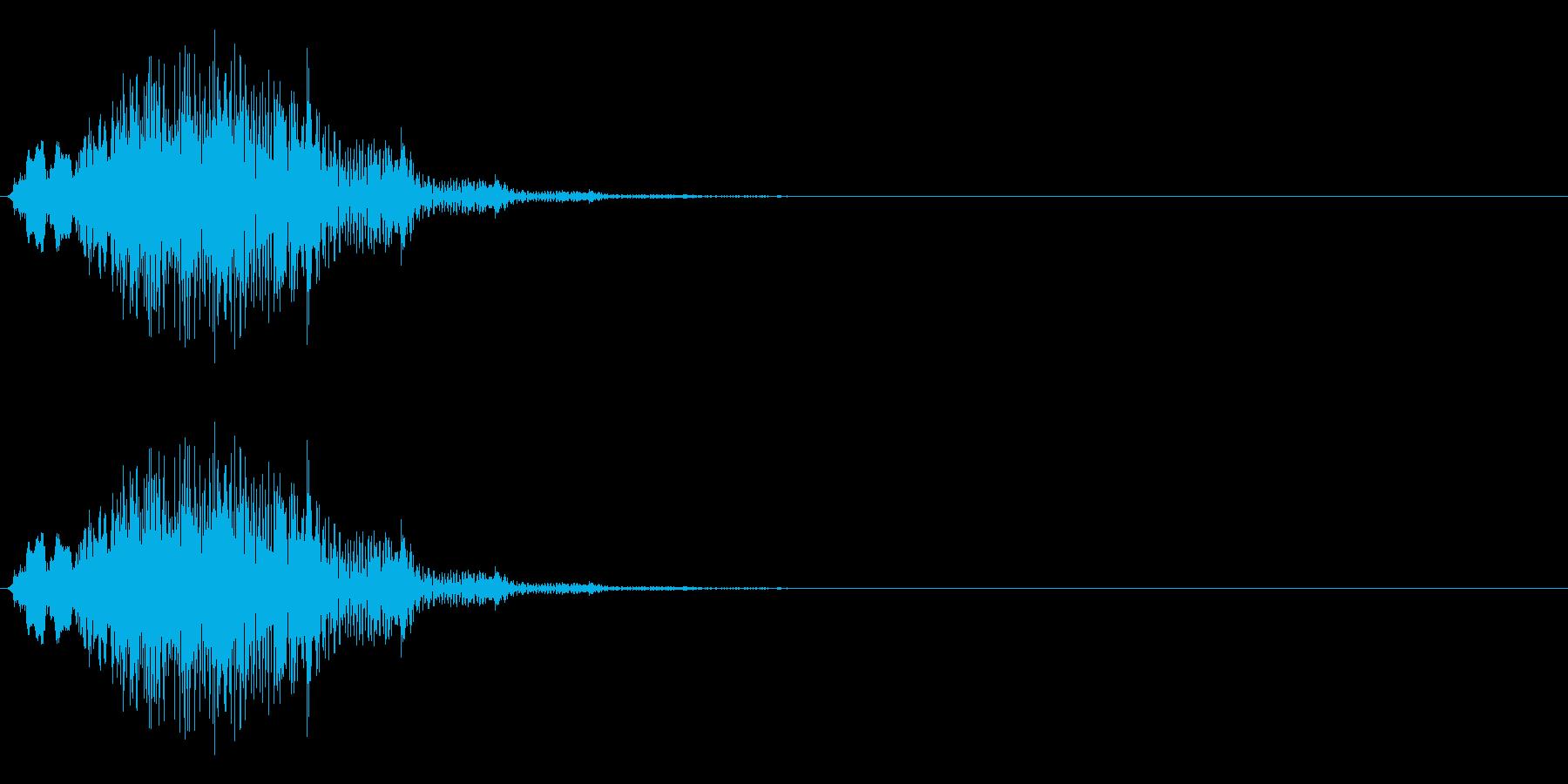 ゲームに使う事を想定したシステム効果音…の再生済みの波形