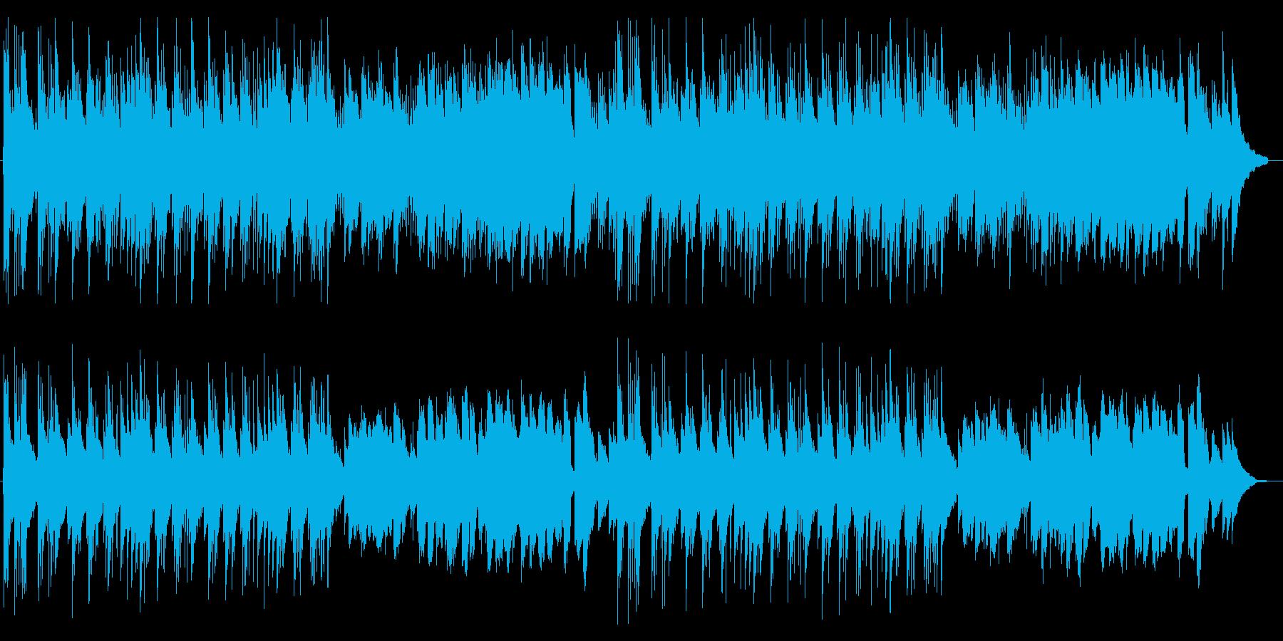 ノスタルジックなギターなどのサウンドの再生済みの波形