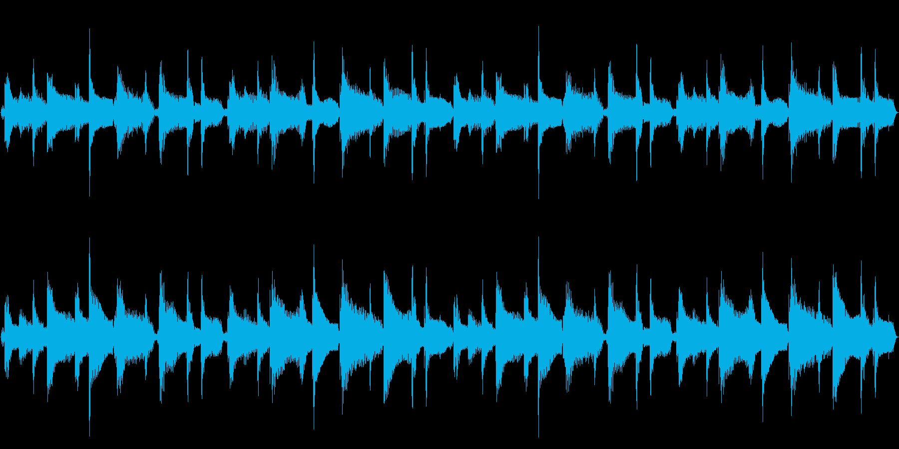 15秒ループ/可愛いウクレレポップスの再生済みの波形