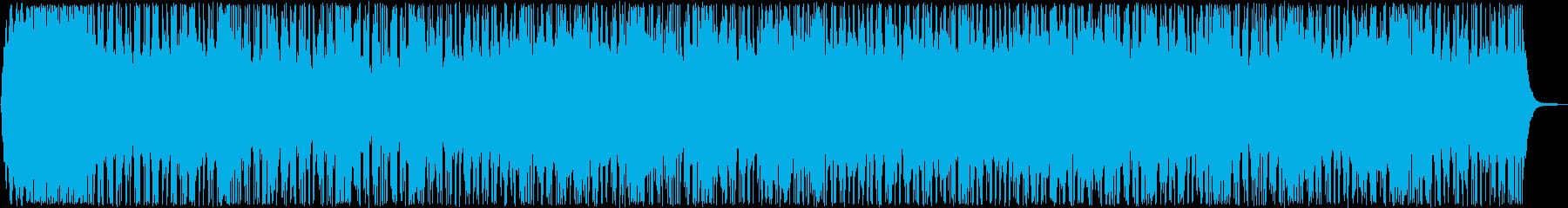 ファンタジーなシンセ・打楽器などの曲の再生済みの波形