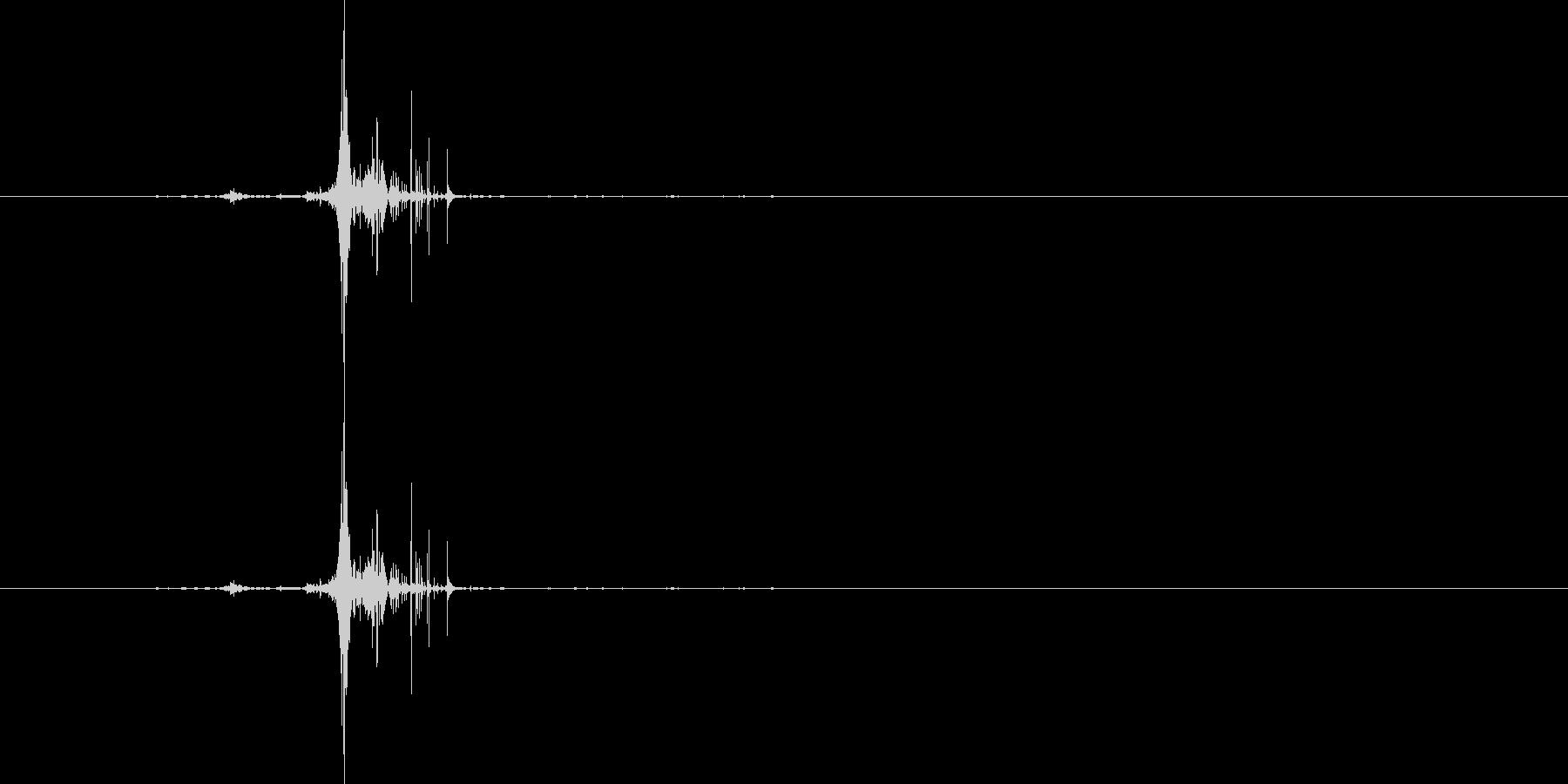 ジボ(ライター着火音)の未再生の波形