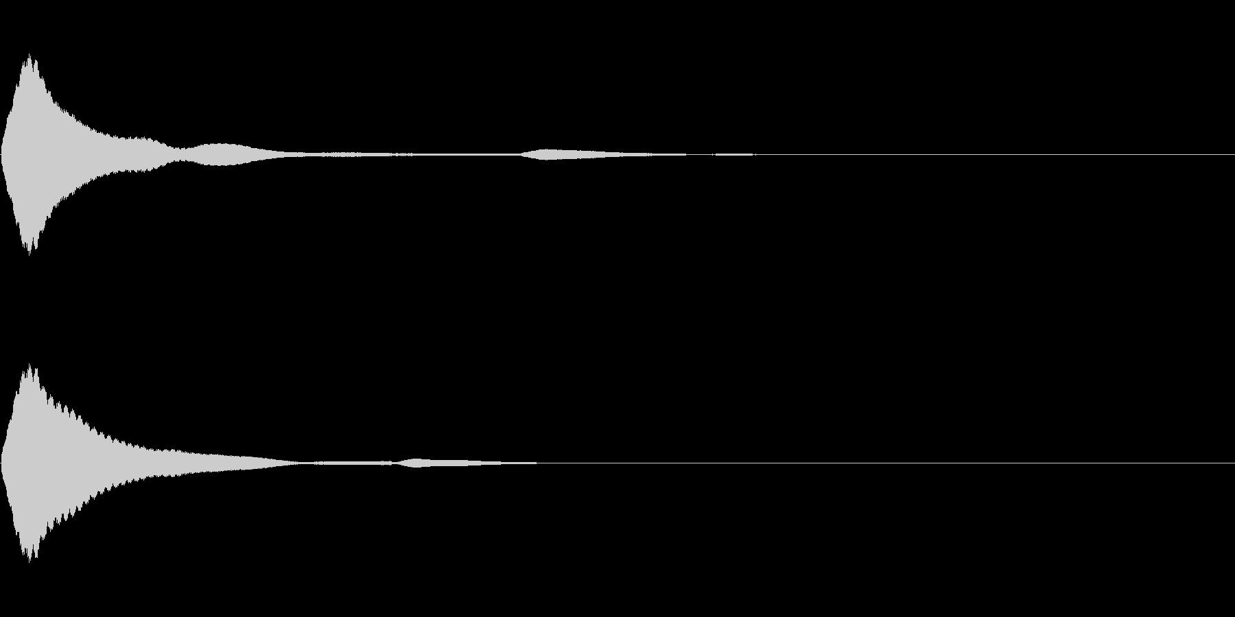 決定/クリック/選択音(ピッ)の未再生の波形