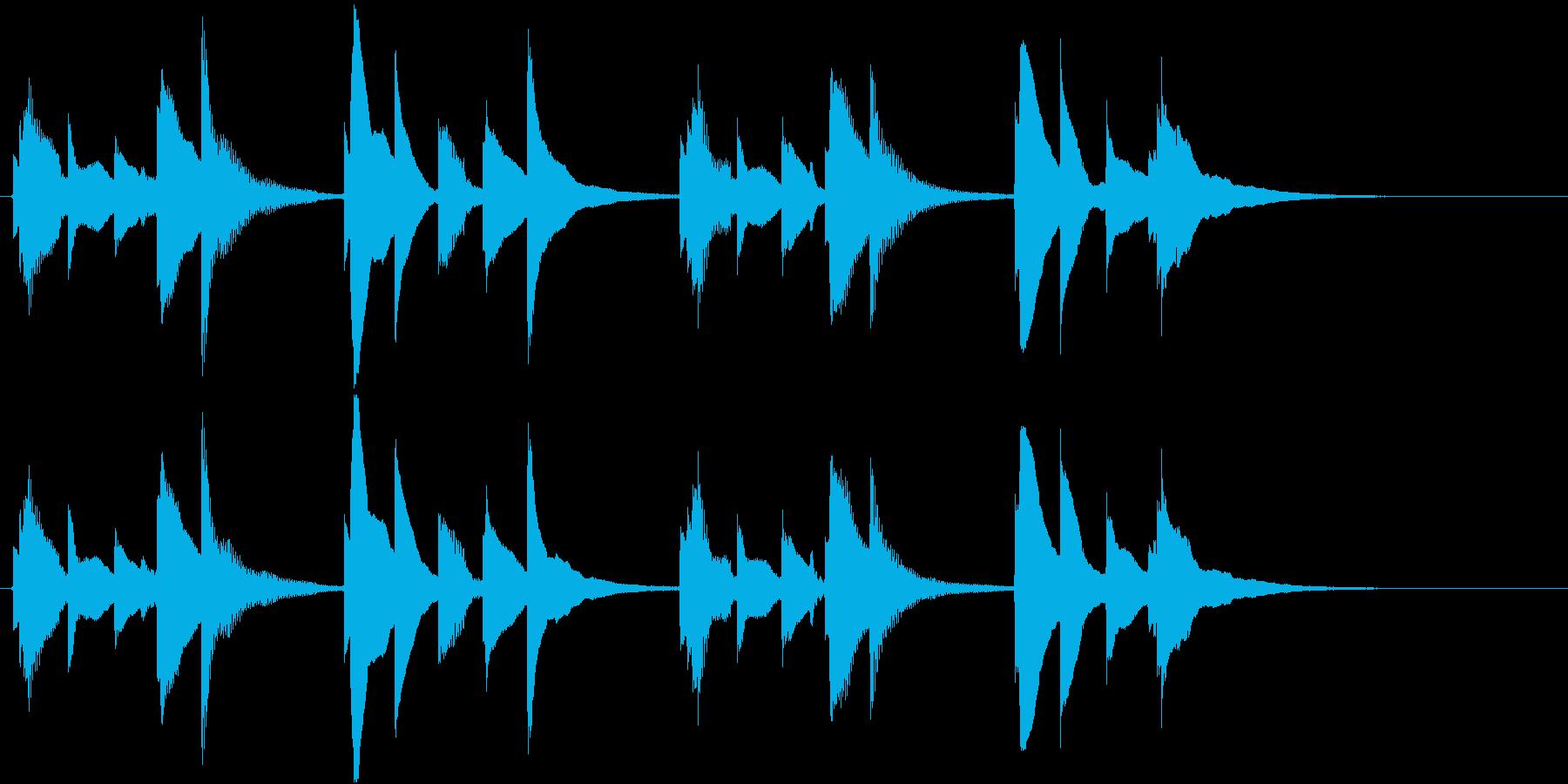 ウクレレ1本のみ(短いフレーズ系)の再生済みの波形