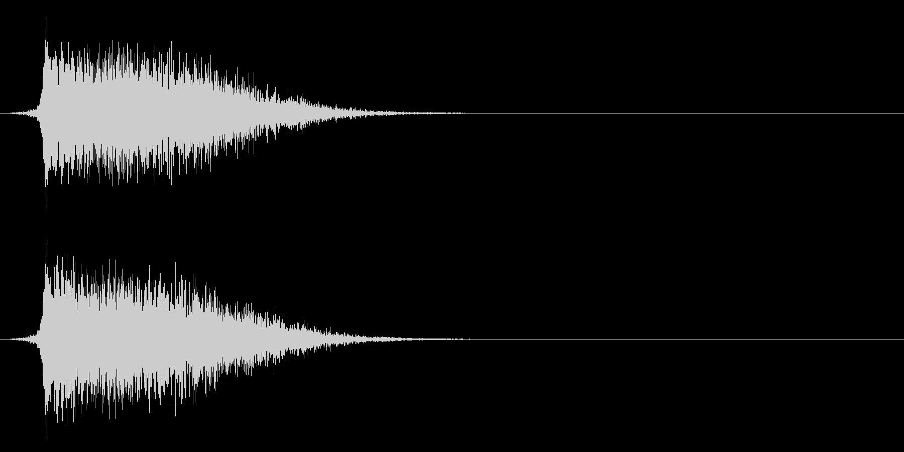 コミカルなダッシュ,ジャンプ効果音!8bの未再生の波形