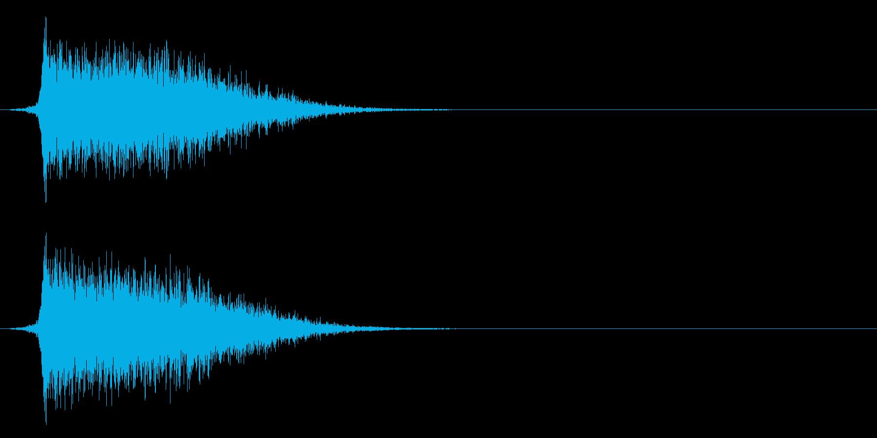 コミカルなダッシュ,ジャンプ効果音!8bの再生済みの波形