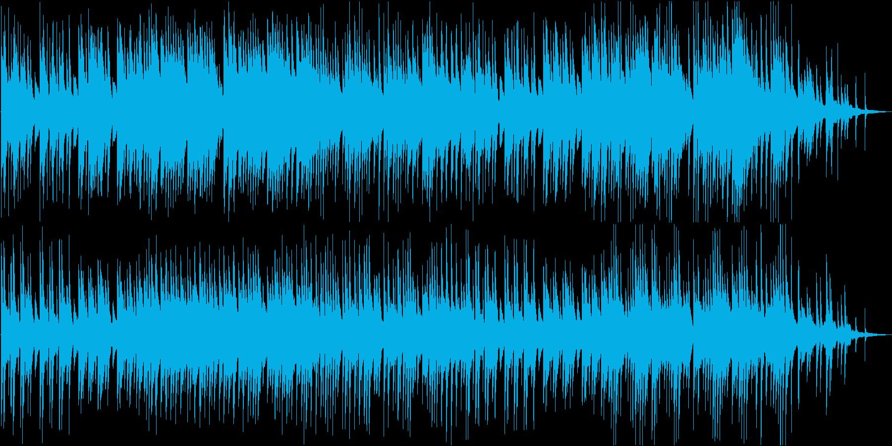 和を感じさせるピアノソロBGMの再生済みの波形