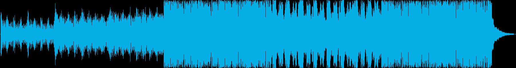 綺麗なコーラスに歪んだ音を組み合わせた曲の再生済みの波形