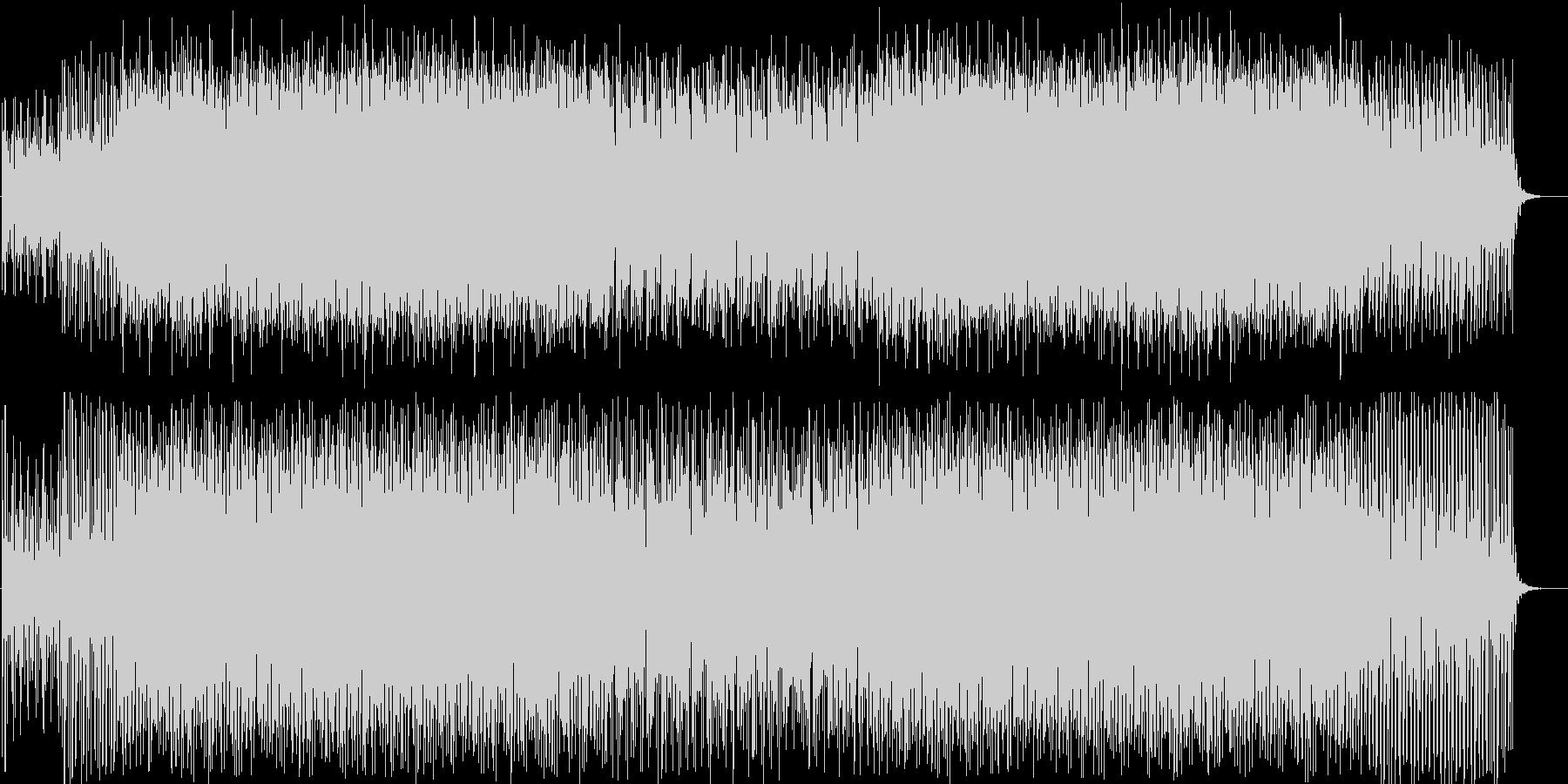 キラキラ、キュートなテクノポップの未再生の波形