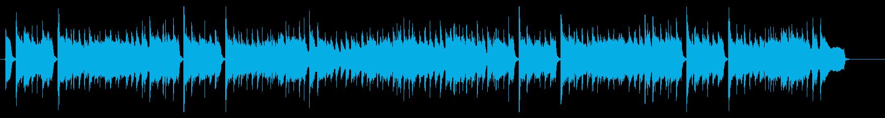 アコギの日常系BGMの再生済みの波形