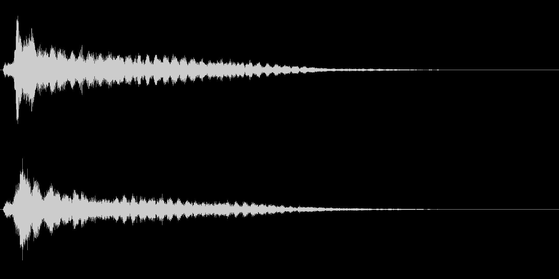 サスペンスに最適!ピアノの弦を弄ぶ音34の未再生の波形