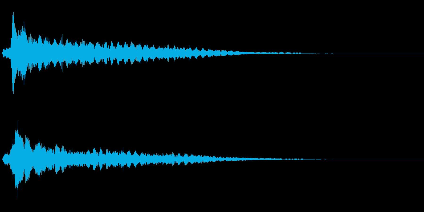 サスペンスに最適!ピアノの弦を弄ぶ音34の再生済みの波形